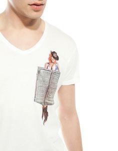 Bershka México - Camiseta con bolsillo PIN UP