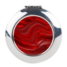 red paint Round Compact Mirror > designs with only one color > MehrFarbeimLeben