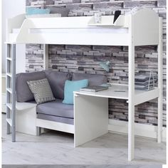Loft Beds For Small Rooms, Loft Beds For Teens, Bunk Beds For Girls Room, Modern Bunk Beds, Cool Bunk Beds, Small Room Bedroom, Room Ideas Bedroom, Bed Rooms, Bed Ideas For Kids