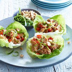 Ginger Peanut Turkey Burger Lettuce Wraps - Shady Brook Farms® turkey