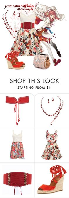 """""""Fire Emblem Fates - Sakura"""" by marielw97 ❤ liked on Polyvore featuring Yves Saint Laurent and Joie"""