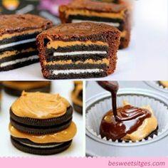 Idea para elaborar un crujiente cupcake de galleta de oreo ~ Be Sweet: reposteria creativa