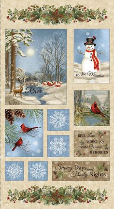 CHRISTMAS HOLIDAY FABRIC, Winter Memories  Christmas #supplies @EtsyMktgTool http://etsy.me/2seS3d2
