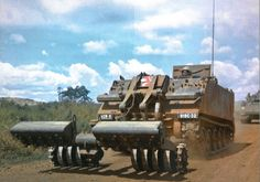 M113 mine sweeper of the 919th Engineer Company, 11th Armored Cavalry Regiment, Long Giao, November 1968.