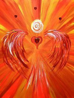Mut!  .... Du bist ein mutiges Wesen. Du hast die Kraft mutig zu sein, Deine Liebe zu zeigen. Du bist mutig Deinen eigenen Weg zu gehen. Mut ist Dein stetiger Begleiter. Mut zeichnet Dich aus! Entscheide Dich mutig zu sein, jetzt- heute- immerzu👍❤️  Herzlichst Carmen  Bild/Quelle: Powerengel des Mutes by Carmen-Art Love&Happiness Painting