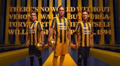 Hellas Verona 2015-16 home kit launch.