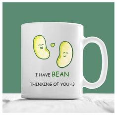 Bean Mug, I Have Bean Thinking Of You, Miss You Coffee Mug, I've Been Thinking About You, Thinking Of You Gifts, GF Mug