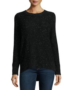 RAG & BONE Tamara Melange Cashmere Sweater, Black. #ragbone #cloth #