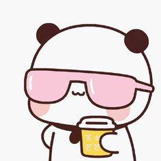 Cute Panda Cartoon, Cute Cartoon Pictures, Cute Love Cartoons, Cute Profile Pictures, Bear Cartoon, Cute Images, Girl Cartoon, Chibi Cat, Kawaii Chibi