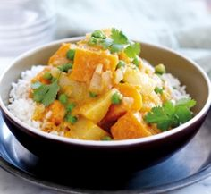Pumpkin and potato curry with peas | Healthy Food Guide
