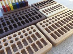 Wooden Crayon Holder for Beeswax Blocks and Sticks by FromJennifer