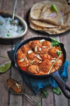 Dum Aloo (Golden fried potatoes simmered in spiced yogurt)
