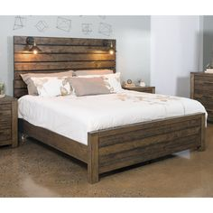 Shop a great selection of Roundhill Furniture Dacono Rustic 5 Piece Bedroom Set, King. Find new offer and Similar products for Roundhill Furniture Dacono Rustic 5 Piece Bedroom Set, King. Furniture, Diy Bed, Bedroom Design, Bed Furniture, King Bed Frame, Rustic Bedding, Pallet Furniture, Rustic Bedroom Furniture, Rustic Bedroom
