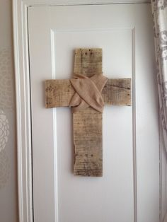 Large Distressed Rustic Cross Wall Art Hanging by JMPalletDesign, $36.00
