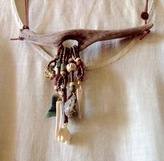 Driftwood with shells and ivory