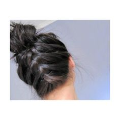 Hair, Nails, and Makeup / French braid upside down... Bend over and start the French braid at the nape of your neck versus your forehead. It's pretty simple if you are proficient at French braids. found on Polyvore