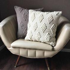 CROCHET PATTERN Diamonds in the Puff Pillow Pattern Crochet