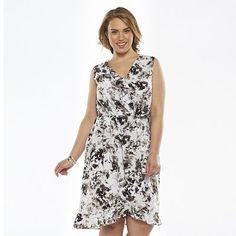 Apt. 9® Ruffle Faux-Wrap Dress - Women's Plus Size