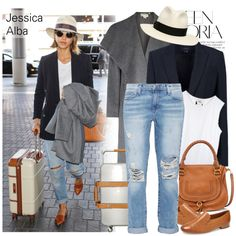 How To Wear Celebrity Look Jessica Alba Outfit Idea 2017 - Fashion Trends Ready To Wear For Plus Size, Curvy Women Over 20, 30, 40, 50