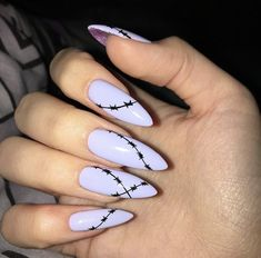 Edgy Nails, Aycrlic Nails, Grunge Nails, Hot Nails, Stylish Nails, Trendy Nails, Swag Nails, Hair And Nails, Simple Acrylic Nails
