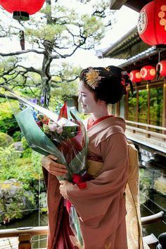 Maiko, Katsuna. She ended the Maiko in May 2017. (Maiko is only from 15 to 20 years old) This picture is from the last photo session she is wearing a kimono of Maiko.