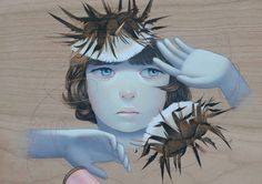 Figurative Paintings on Wood by Sean Mahan | Inspiration Grid | Design Inspiration