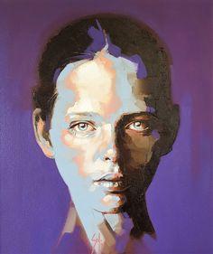 Art Inspo, Inspiration Art, Abstract Portrait, Portrait Art, Contemporary Art Artists, Atelier D Art, Black And White Painting, Face Art, Figurative Art