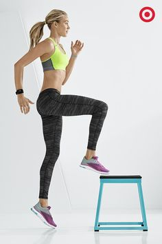 Get a leg up on the competition by standing out in the latest gear. The perfect combo: C9 Champion Compression Racer Bra + C9 Poly Spandex Leggings.