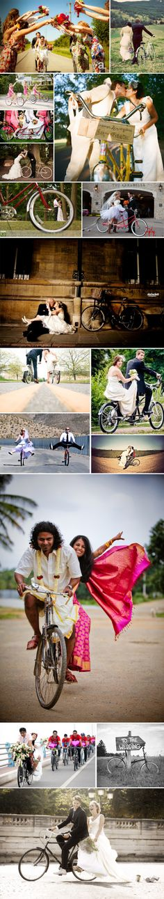 Celebrating National Bike Month with bikes in weddings | Pinspiration | Jam + Toast | #Nationalbikemonth #weddings