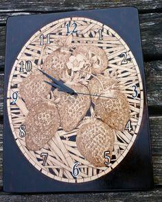Strawberry Clock pyrography