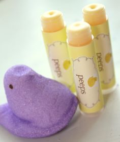 peeps flavored lip balm?  yes, please! :)