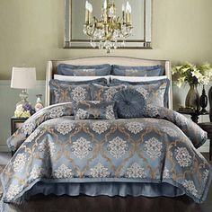 Shop for Stone Cottage Avignon Cotton Sateen Duvet Cover Set. Get free delivery On EVERYTHING* Overstock - Your Online Fashion Bedding Store! Elegant Comforter Sets, Luxury Comforter Sets, Blue Comforter Sets, Queen Comforter Sets, Cottage, Duvet Cover Sets, Bed Sheets, Comforters, Bedspreads