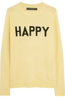 Sister by Sibling Pullover aus Wolle mit Happy-Intarsienmuster | NET-A-PORTER