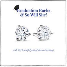 #Graduation #StudEarrings #DiamondEarrings