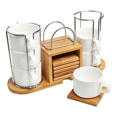 Deluxe Set of 6 White Ceramic Espresso Tea Cups & Bamboo Coasters w/ Tabletop Storage Rack - MyGift® Home MyGift http://www.amazon.com/dp/B00SW2AO68/ref=cm_sw_r_pi_dp_ydrnvb05GQF0Z