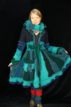 Elf Coat by Katwise - She sells her tutorial on Esty. This is a wonderful way to upcycle sweaters