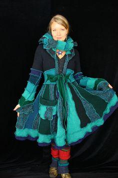Patrón de abrigo suéter por Katwise | Recycled sweaters and Etsy