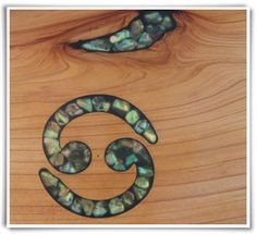 Wood Inlays for Furniture | Wood Inlays - Wood furniture - rustic furniture - macrocarpa furniture ...