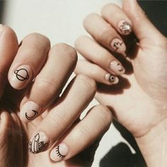 Nails, must read post tip. Pop by this informative nail art 7836999061 right now. Cute Acrylic Nails, Cute Nails, Pretty Nails, Diy Nails, Simple Nail Art Designs, Nail Designs, Planet Nails, Mens Nails, Minimalist Nails