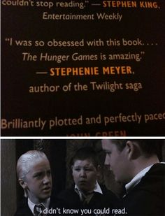 omg, laughing at this. good one, Malfoy.