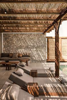 Hotel Casa Cook Kos - The Best of Architecture Ideas Outdoor Pergola, Backyard Patio, Backyard Landscaping, Outdoor Spaces, Outdoor Living, Pergola Kits, Pergola Canopy, Pergola Roof, Cheap Pergola