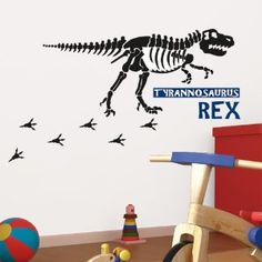Platin Art Wall Decal Deco Sticker, Dinosaur