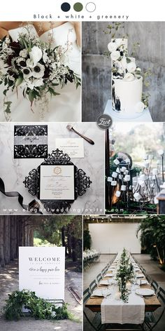 simple white,black and greenery minimalist modern winter wedding colors colors greenery 20 Greenery Filled Winter Wedding Ideas to Inspire Black And White Wedding Theme, Lilac Wedding, Dream Wedding, Black White Weddings, Grey Wedding Theme, Winter Wedding Colors, Winter Wedding Inspiration, January Wedding Colors, White Wedding Decorations