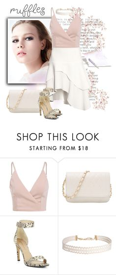 """All Ruffled Up"" by andrejae ❤ liked on Polyvore featuring BCBGMAXAZRIA, Humble Chic and ruffles"