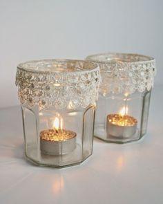 candele per matrimonio shabby chic