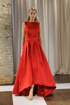 Red is fall 2015's statement maker color. See all the head-to-toe looks on the fashion week runways, including Katie Ermilio.
