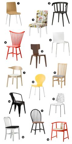 Shopping Guide: 14 Stylish Dining Chairs Under $100