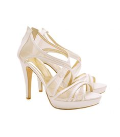 Luxury ladies shoes from category-Νυφικά-Lou bridal-evening sandals SHOES Evening Sandals, Evening Shoes, Bridal Sandals, Bridal Shoes, Opaline, Summer Shoes, Dior, Luxury, Wedding