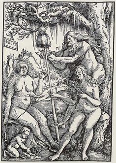 Hans Baldung Grien (German, c. 1485-1545). Die Parzen (The Fates), 1513