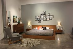 Bedroom inspiration.  Collages made with frames and inspiring photos are one of the coolest details from our new collection!! let the styling begin  BoConcept Puebla, Mexico